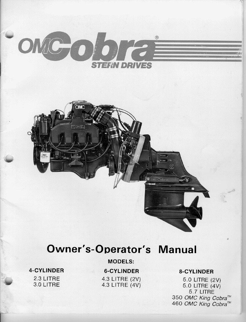 OMC Cobra Sterndrive Tech Info
